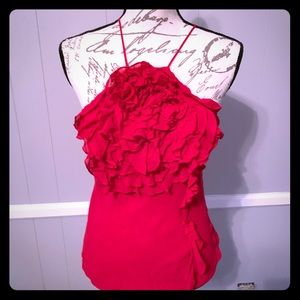 Red BCBG dressy halter top